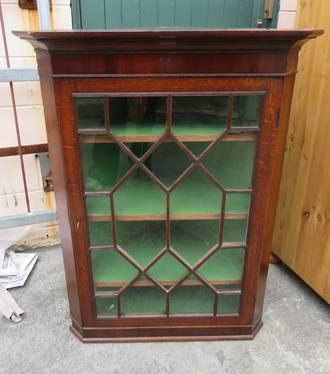 Antique Oak Corner Cabinet $1495