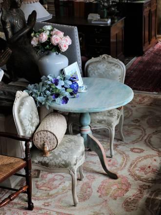 Vintage Painted Pine Table $950