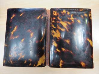 Antique Tortoiseshell Card Wallet, Silk Lined, circa 1860