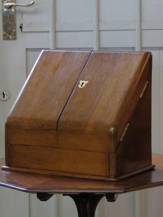 Antique Mahogany Writing Compendium