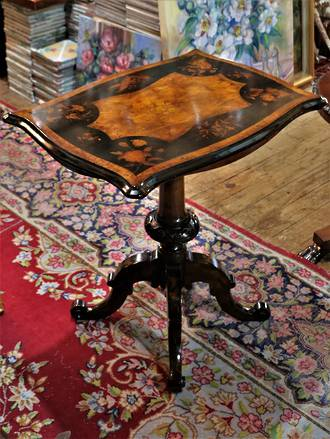 Decorative Parquetry Side Table