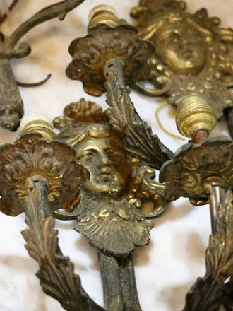 Original French Wall Sconces - Unrestored