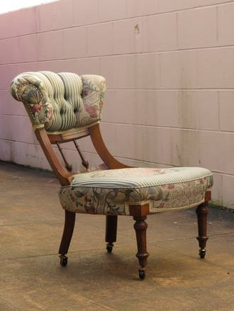 Edwardian Button Back Nursing Chair or Bedroom Chair SOLD