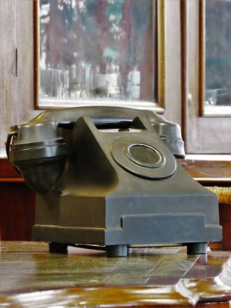 Vintage Party-Line Black Bakelite Telephone