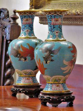 A Pair of Vintage/Antique Chinese Cloisonne Vases SOLD Similar Pr available