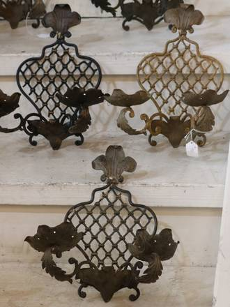 French Wire candle wall sconces