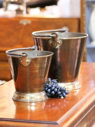 19th Century English Brass Jam Bucket or Pails,  large $495, Small $195
