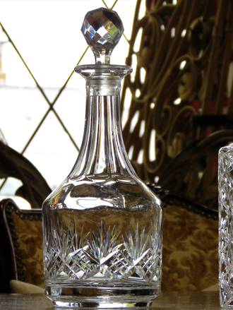 Tall Cut Crystal Decanter $145