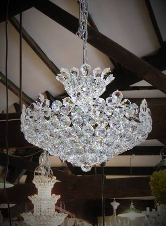 Cut Crystal Ball Chandelier $3950.00 SOLD - Can order in