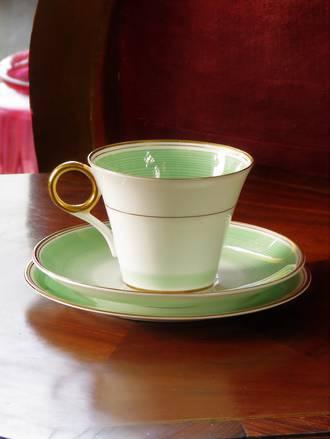 Art Deco Shelley Trio - Fine Bone China Porcelain