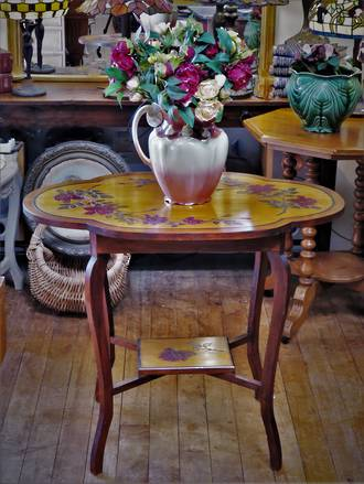 Colonial New Zealand Kauri Folk Art Hall Table SOLD