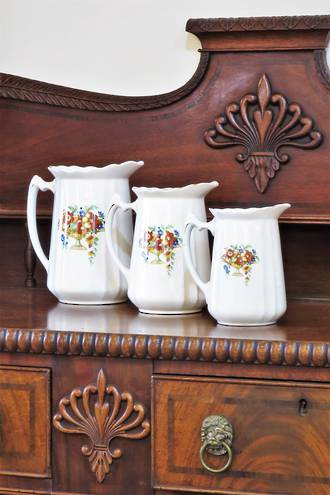 Rare Set of Graduated Victorian Jugs - Hollinshead