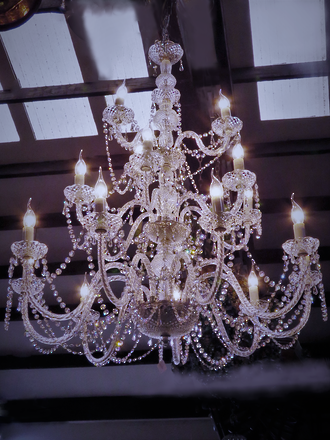 Spectacular Wedding Cake Chandelier - High Purity Crystal -18 lamps - 3 Tiers - $4,500.00