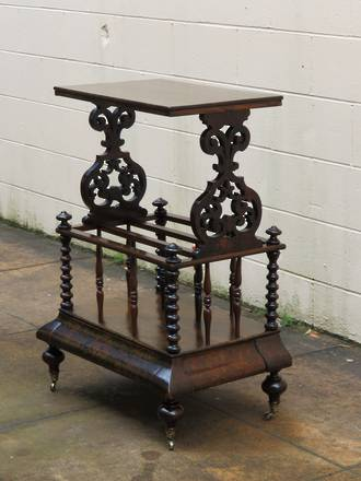 Rare Kauri Canterbury Music Stand, Hall Table or Book Case $1250.00
