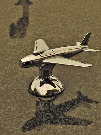 Rare 1951 Sabre Jet Fighter Chrome Lighter by Dunhill SOLD