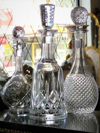 Crystal Decanters - Waterford - Bohemian - Cut Crystal