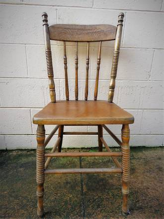 Set x 4 Antique Beech Cottage Chairs $1060