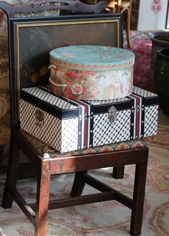 Decoupage Hat Box