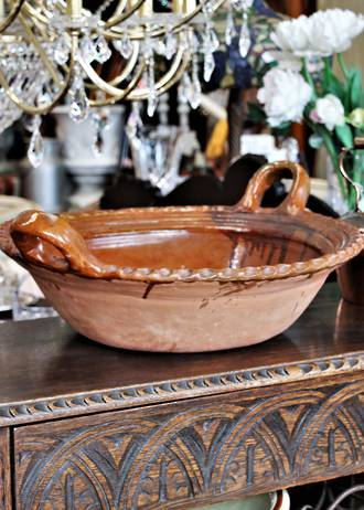 Huge 19th Century Bolivian Dough Bowl $295 sold