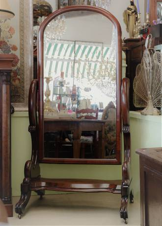 Huge Victorian Cheval Mirror - Large Tilting Dress Mirror $2950.00