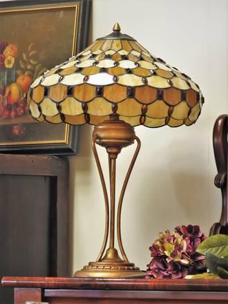 Large Arts & Crafts Style Tiffany Lamp $599