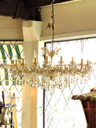 Huge 22 arm 'Champagne' Classical Gold Tinted Crystal Chandelier SOLD