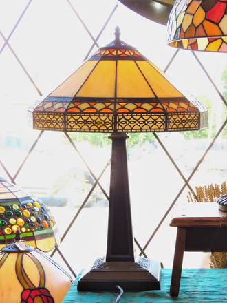 Arts & Crafts Style Tiffany Lamp - Large Lighthouse