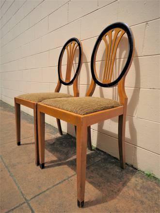 Pair of Art Deco Designer Chairs $700 pr