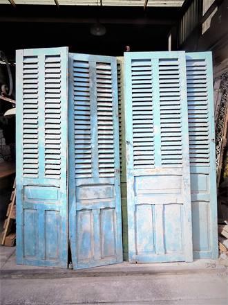Antique French Shutters - Door Panels  $1350.00 pr