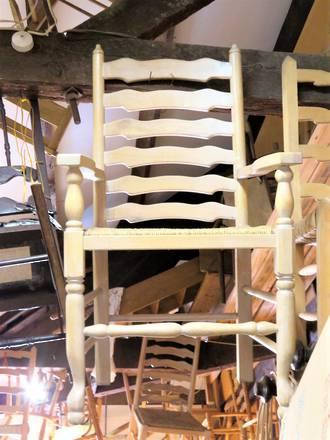 European Beech Ladder Back Carver Chair $399