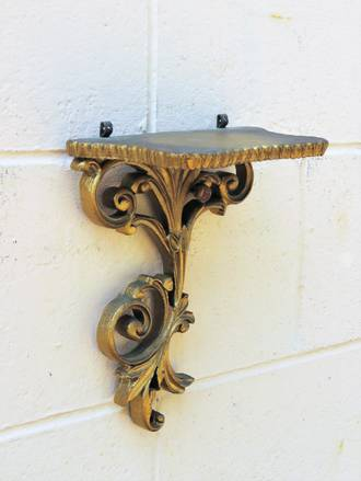 Rococo Style Gold Wall Shelf Brackets - Made in England Atsonea SOLD