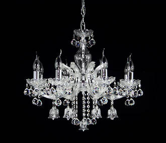 "Medium Crystal Bell Chandelier 23""  8 arm $2500 Out of stock"