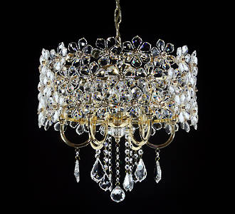 Flower Detail Crystal Chandelier $2500 Special order