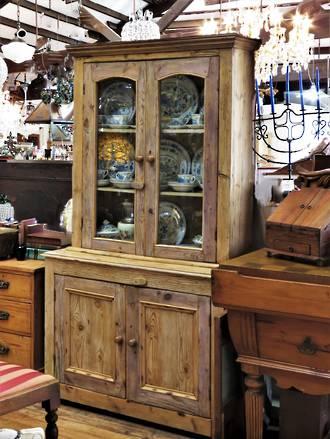Antique Baltic Pine Glazed Hutch Dresser $2500