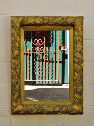 Antique French Gilded Wall Mounted Mirror sold