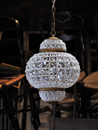 Moroccan Style High Purity Cut Crystal Basket Chandelier