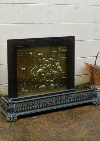 Antique Firescreen & Accessories