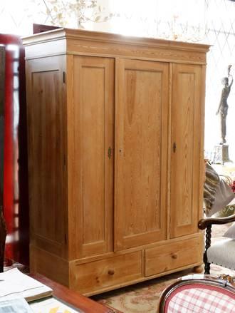 Large Pine Wardrobe - Adjustable Shelving