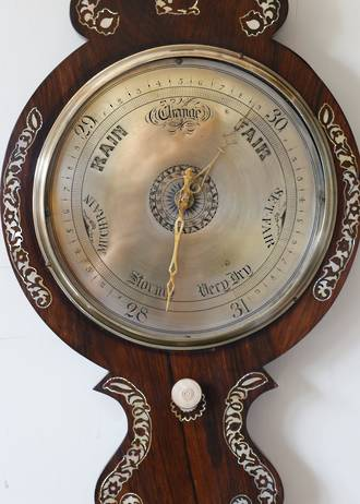 Phenomenal Georgian Barometer - Engraved Brass Face $1950