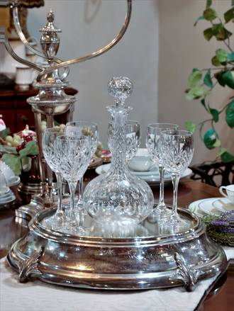 Antique  Mirrored Silver Plateau or Wedding Cake Stand