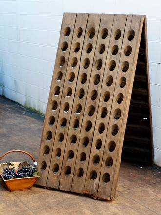 Mid Century French Champagne Riddling Rack $1250