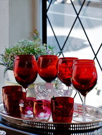 Red Wine Goblets & Water Glasses
