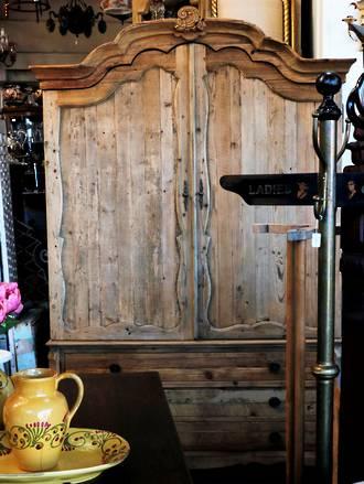Reclaimed Baltic Pine Armoire Wardrobe or Linen cupboard