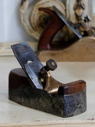 H Slater Rosewood Infill Smoother Tapered Heel Wood Plane $575
