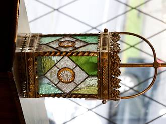 Victorian Stained Glass Ceiling light $495.00