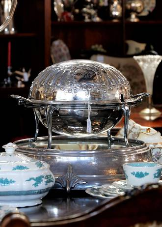 Decadent Silver Plated Vegetable Steamer $475