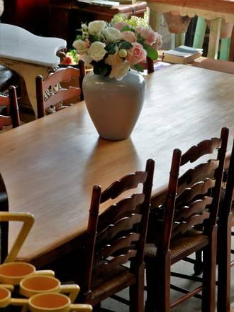 Large Rustic Farmhouse Colonial Table Kauri, English Pine $2950.00