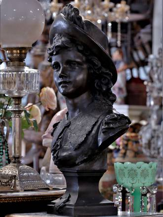 Life Size Bronze Bust 19th Century Signed