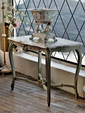 French Antique  Marble Topped Console Table $1750