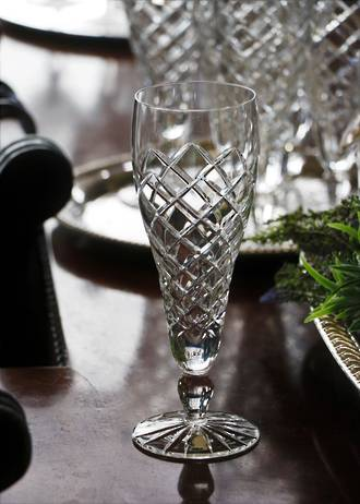 Bohemian Hand Cut Crystal Champagne, Pilsner or Parfait Glasses SOLD